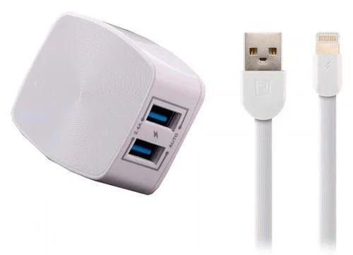 Сетевое зарядное устройство Remax 2USB + Lightning Cable 2.4A White (RP-U215i)