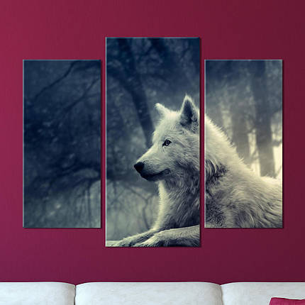 "Модульная картина ""Волк"", фото 2"