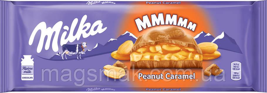 Шоколад Milka з арахісом і карамеллю, 276г, фото 2