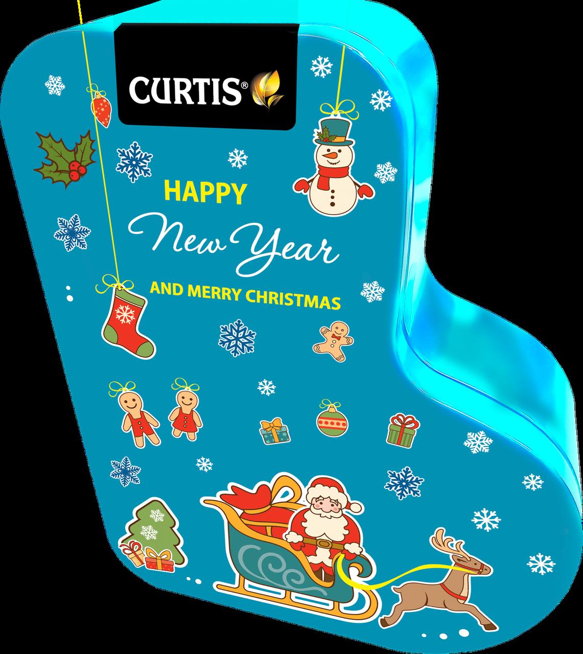 Чай черный ароматизированный листовой Кертис Curtis Happy New Year and Merry Christmas 80 г ж/б