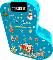 Чай черный ароматизированный листовой Кертис Curtis Happy New Year and Merry Christmas 80 г ж/б, фото 1