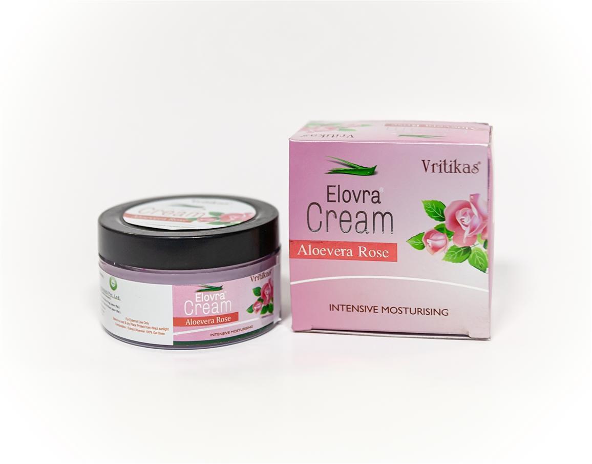 Крем Алоевера Роза (Aloevera Rose Cream Vritikas) 50 грамм