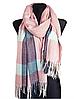 Теплый шарф Мелани клетка 180*70 см пудра