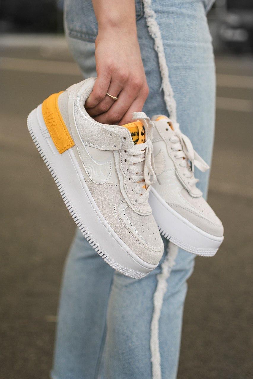 Кросівки жіночі Nike Air Force Shadow Grey Orange