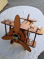 Мини-бар Самолет с рюмками, фото 1