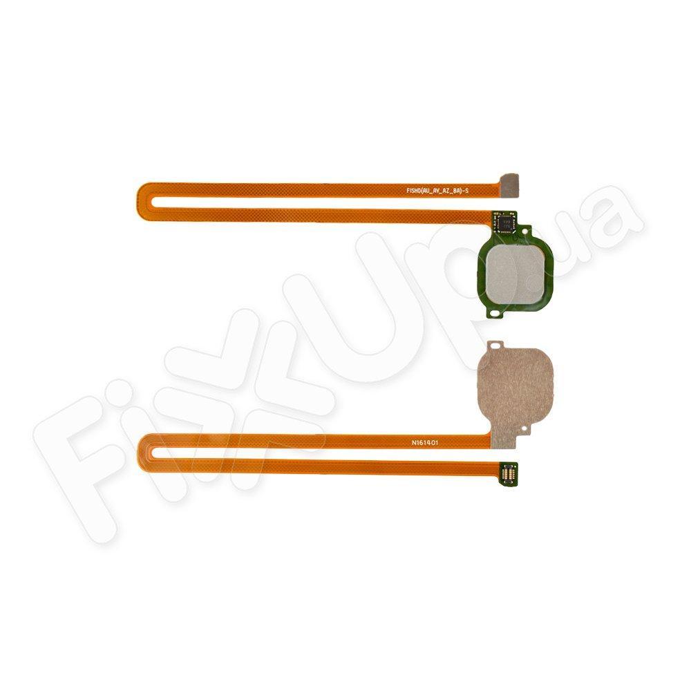 Шлейф для Huawei Honor 6X (BLN-L21), Mate 9 Lite, GR5 (2017) с датчиком отпечатка, цвет серебро