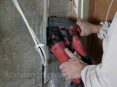 Штроба під проводку Нарізка штроб Проштробити бетон цегла