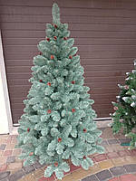 Елка Элитная с шишками 1.80м голубая // ель / ёлка / ялинка штучна з шишками, фото 1