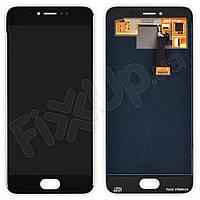 Дисплей Meizu Pro 6 с тачскрином в сборе, цвет черный, оригинал