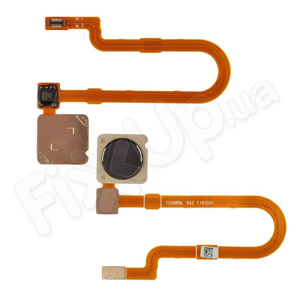Шлейф для Xiaomi Mi8 Lite с датчиком отпечатка, цвет черный
