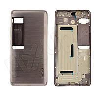 Задняя крышка для Meizu Pro 7 Plus, цвет серебро