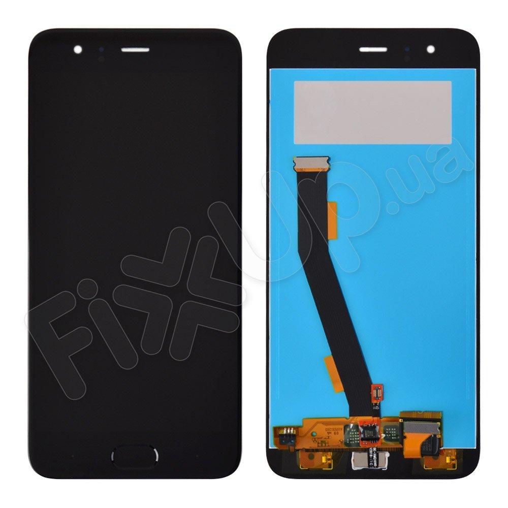Дисплей Xiaomi Mi6 с тачскрином и датчиком отпечатка, цвет черный, копия высокого качества, уценка