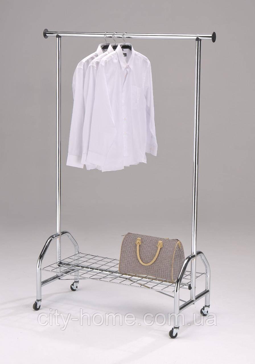 Напольная вешалка для верхней одежды хром