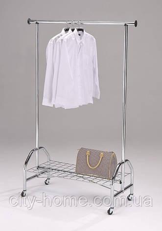 Напольная вешалка для верхней одежды хром, фото 2