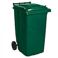 """Контейнер сміттєвий для ТПВ """"Алеана"""" - 120 л (темно зелений)"""