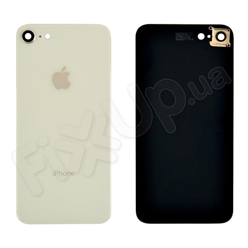 Задняя крышка для iPhone 8 со стеклом камеры, цвет серебро