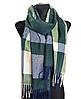 Теплый шарф Мелани клетка 180*70 см изумрудный