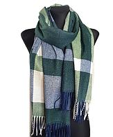 Теплый шарф Мелани клетка 180*70 см изумрудный, фото 1
