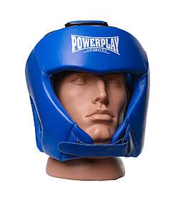 Боксерський шолом турнірний PowerPlay 3049 M Синій КОД: PP_3049_M_Blue