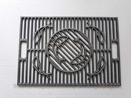 Решетка чугунная BBQ 400х700 мм для барбекю и мангала