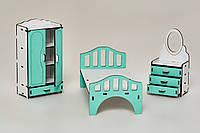 Мебель для кукольного домика Барби NestWood Спальня Мятная КОД: kmb005m