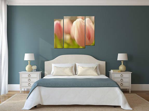 Модульная картина Розовые тюльпаны, фото 2