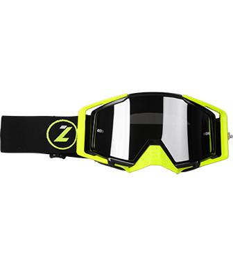 Мотоочки LAZER Goggle Race Style Black Yellow - Mirror Silver Lens