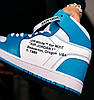 Женские кроссовки Off White Air Jordan 1 Retro UNC Blue/White Найк Аир Джордан Офф Вайт голубые AQ0818-148, фото 3