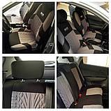 Чехлы на сиденья авто универсальные материал полиэстер Красного цвета, фото 7