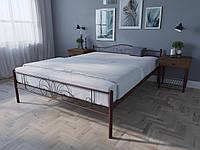 Кровать MELBI Лара Люкс Двуспальная 120х190 см Бордовый лак КОД: КМ-017-02-1бор