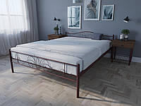 Кровать MELBI Лара Люкс Двуспальная 120х200 см Бордовый лак КОД: КМ-017-02-2бор