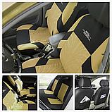Чохли на сидіння авто універсальні матеріал поліестер Бежевого кольору, фото 2