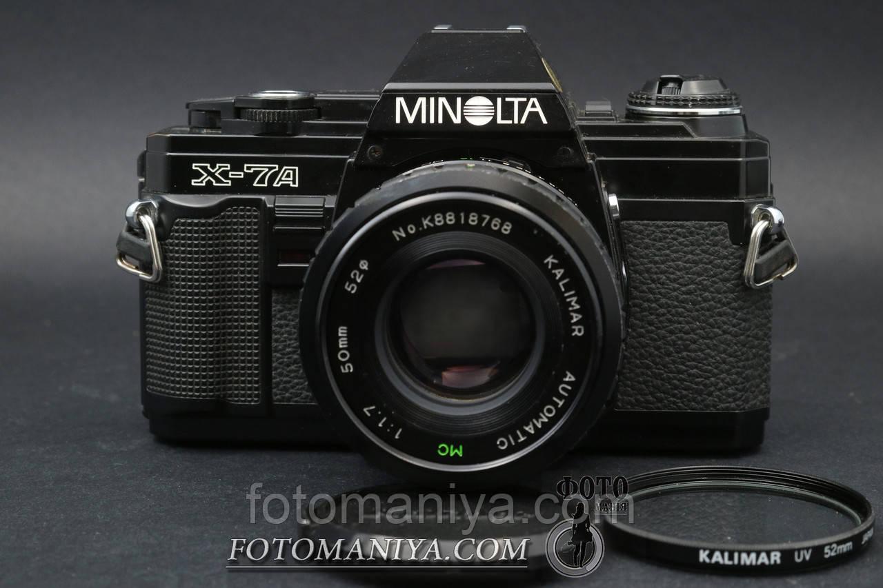 Minolta X-7A kit Kalimar MC 50mm f1.7