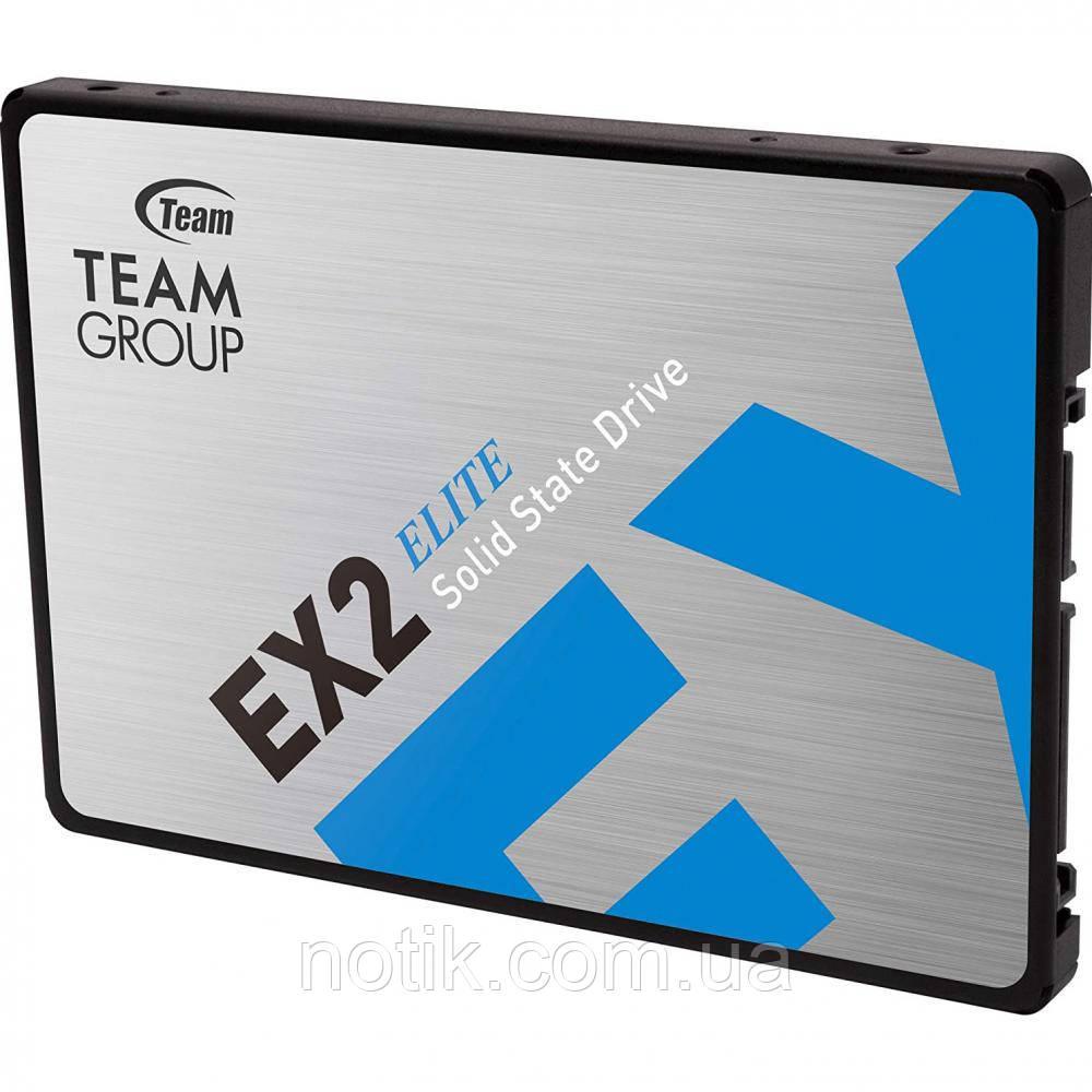 """Твердотельный накопитель 512Gb, Team EX2, SATA3, 2.5"""", 3D TLC, 550/520 MB/s (T253E2512G0C101)"""