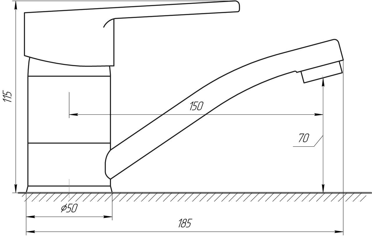 Смеситель для умывальника DOMINO BLITZ DBC-203M