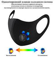 Многоразовая маска Pitta GREEND MASK Защитный распиратор с клапаном выдоха Черная СКИДКА
