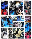 Чохли на сидіння авто універсальні матеріал поліестер Синього кольору, фото 3