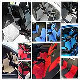 Чохли на сидіння авто універсальні матеріал поліестер Синього кольору, фото 4
