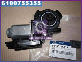 Мотор стеклоподъемника двери передней левой Hyundai Sonata 04- (пр-во Mobis)  824503K011