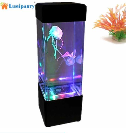 Лампа - ночник со светодиодными медузами LED Jellyfish Mood Lam