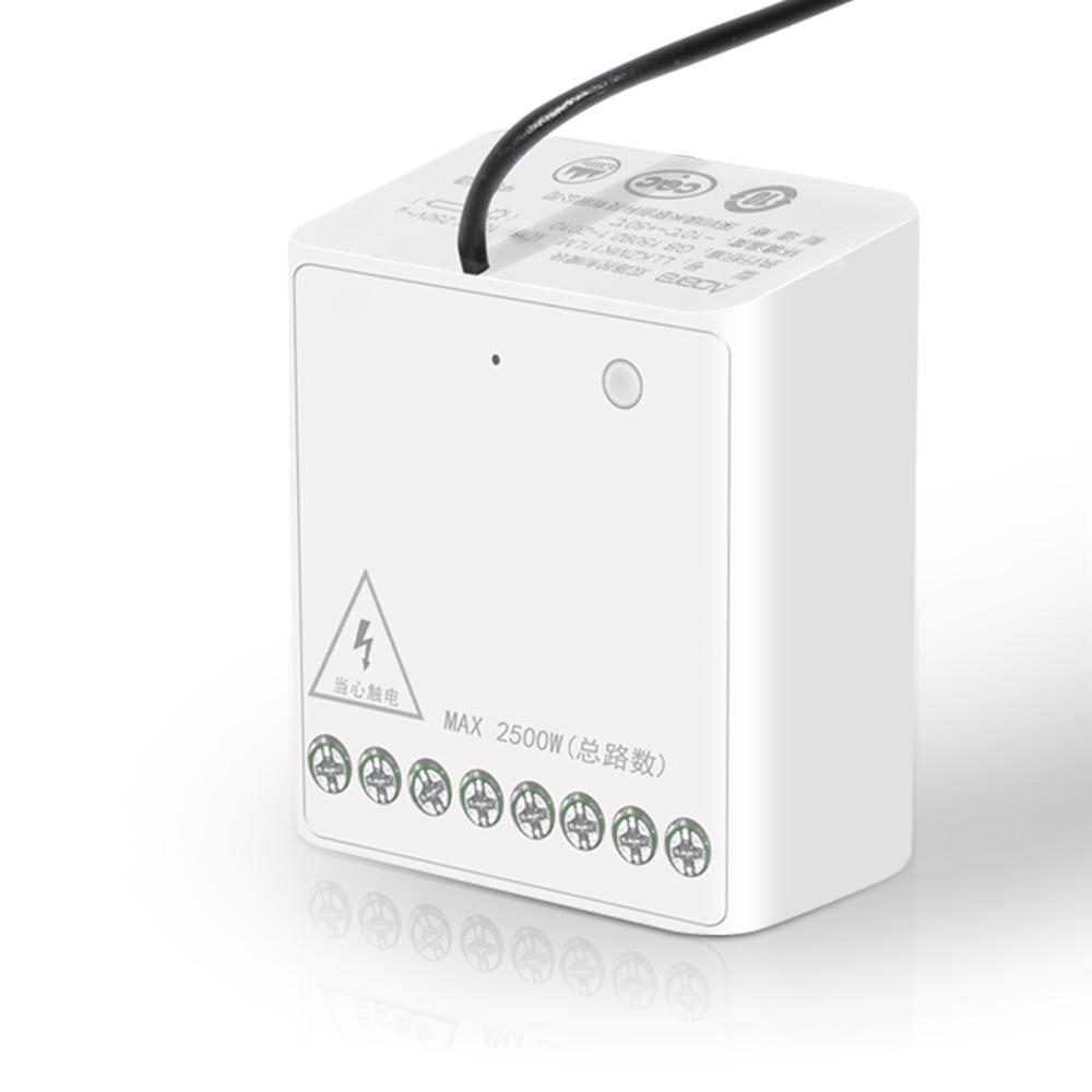 Двоканальний модуль реле Aqara Wireless Relay Controller Homekit (LLKZMK11LM)