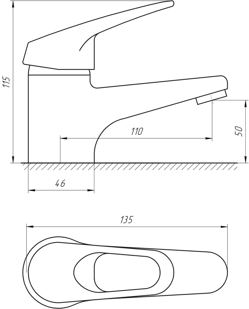 Смеситель для умывальника EcoMix M-GEM-101