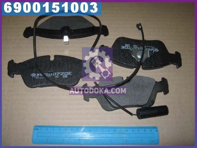 Колодки тормозные передние (с датчиком ) (производство  Intelli)  D720EI