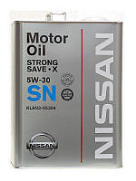 Масло Nissan Strong Save X SN 5W30, 4л.