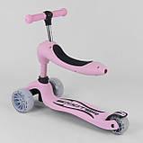 """Самокат S-8015 """"Best Scooter"""" (6) Розовый, колеса PU со светом 120х40 см, фото 4"""