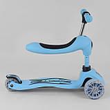 """Самокат S - 9001 """"Best Scooter"""" (6) Блакитний, PU колеса зі світлом 120х40 см, фото 2"""