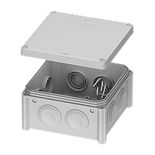 Коробка 100*100х50 розподільча накладна IB006 Plank Electrotechnic