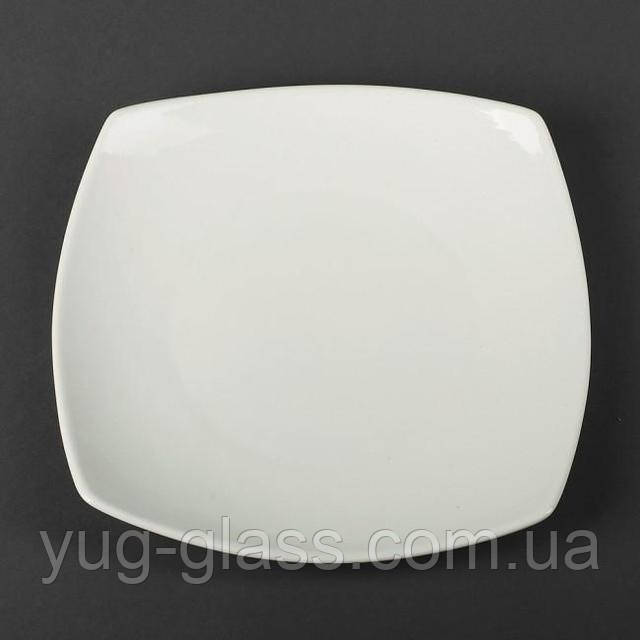 Подтарелтник квадратный белый