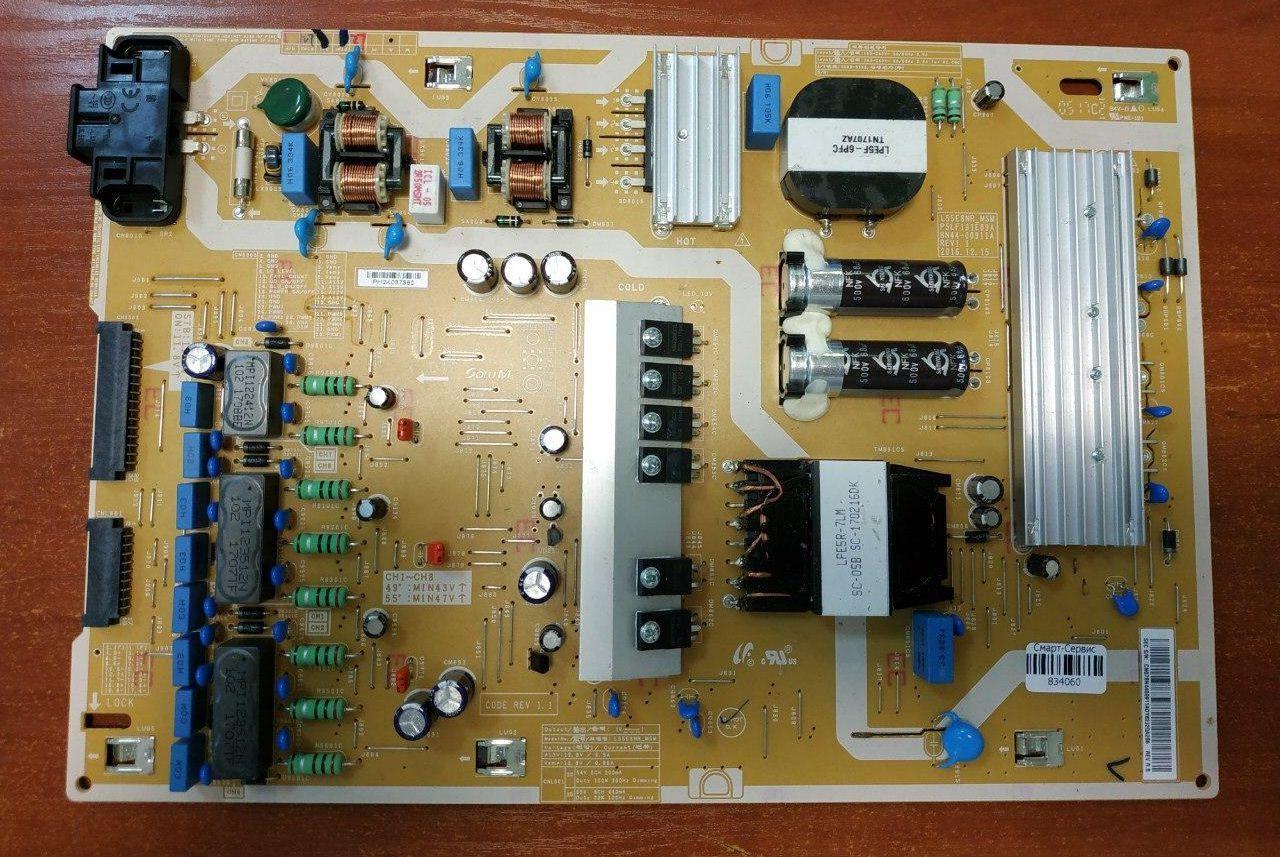 Блок питания BN44-00911A, L55E8NR_MSM, PSLF191E09A SAMSUNG UE49MU7009 (UE49MU7079T) (UE49MU7000U)