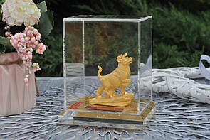 Золотой бычок в подарочной коробке